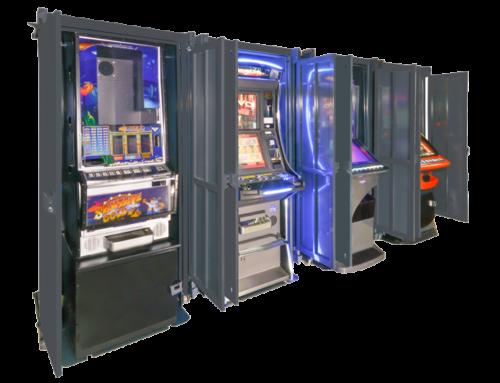 Armario retráctil para máquinas recreativas renovado